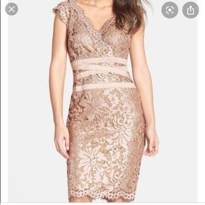 Tadashi Soji rose gold sequin dress Paillette 4/6
